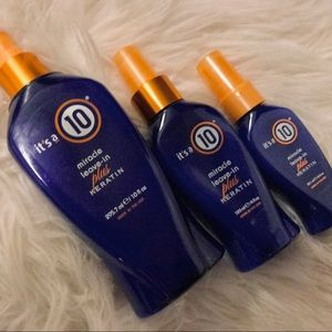 It's a 10 Miracle Leave in Plus Keratin Bundle Set